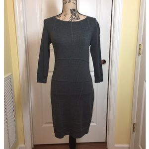 Etcetera, Gray, 3/4 Length Sleeve, Bodycon Dress